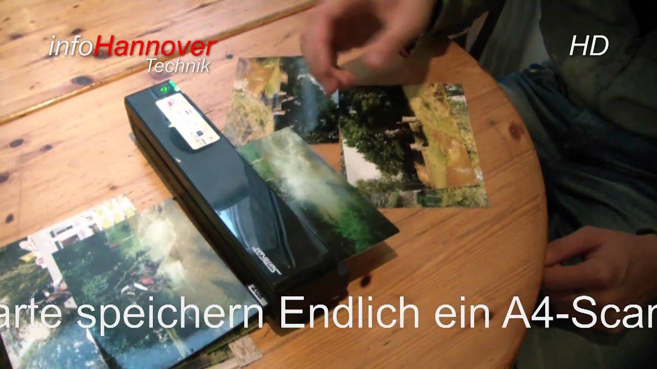 Somikon Portabler Einzug Scanner SC 620 01