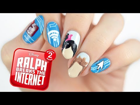 Disney's Wreck It Ralph 2 Nail Art Tutorial - 동영상