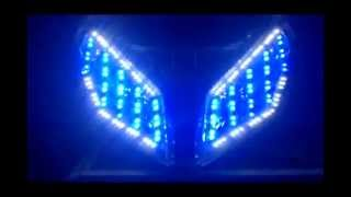 Repeat youtube video lampu vario techno angel eyes led 8 mode effect's & 6 mode's strobo effect