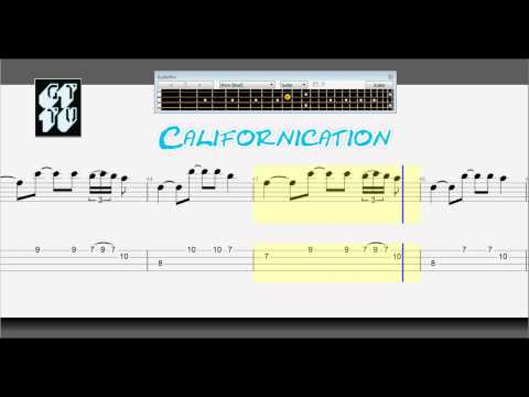Learn How to Play Californication BASS Guitar Pro 6 Lesson + Tabs RHCP