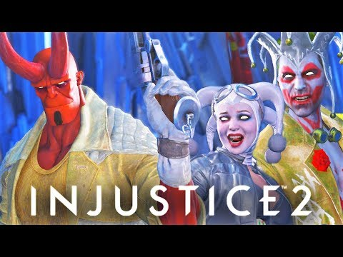 "Thumbnail: INJUSTICE 2 - ALL Hellboy Vs. Joker/Harley Quinn Intro Dialogues! ""Everyone's a Comedian"""