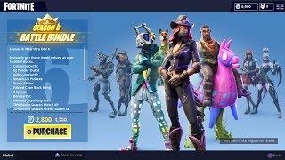 Fortnite season 6 battle pass. Pets,music packs,New skins