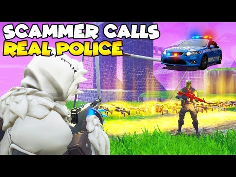 Scammer Calls The Police They Actually Came! 👮♀️🚔  (Scammer Gets Scammed) Fortnite Save The World
