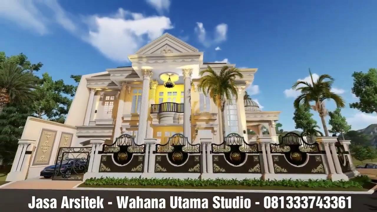 Desain Rumah Eropa Klasik Mewah 2 Lantai Bapak Ahmad Dimyati Di Tasikmalaya  - YouTube