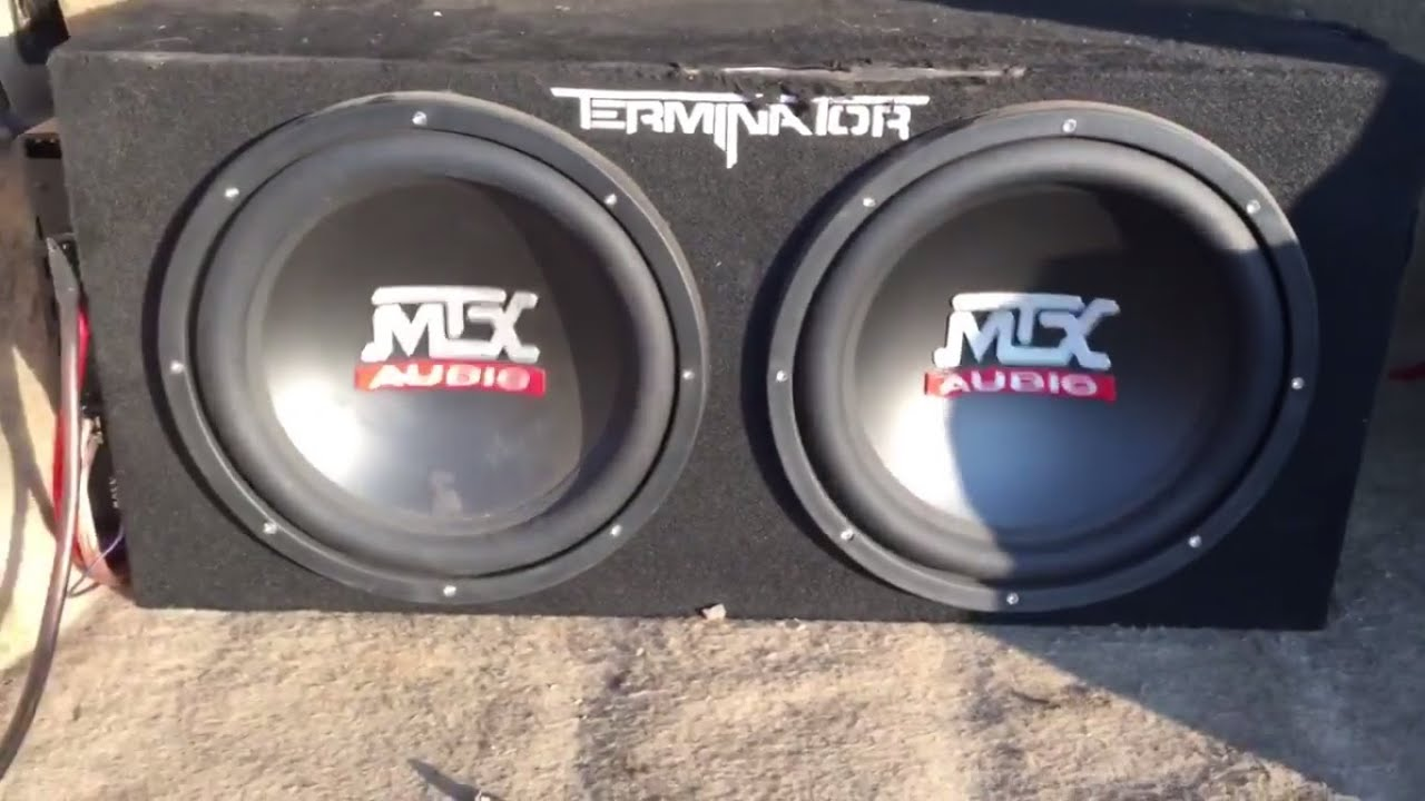 Review 2 12 Mtx Terminator With A 1100 Watt Boss Amp And Best Amplifier Wiring Kit Sony Bluetooth Stereo Youtube
