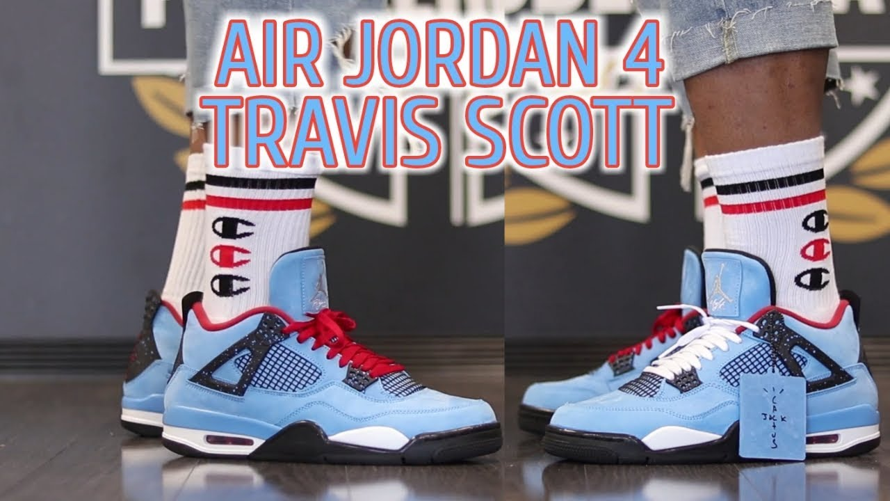 dfbf1d75072d AIR JORDAN 4 TRAVIS SCOTT + ON FOOT - YouTube