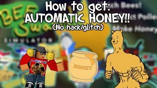 [Roblox] Bee Swarm Simulator: HOW TO GET AUTOMATIC HONEY (NO HACK / GLITCH)