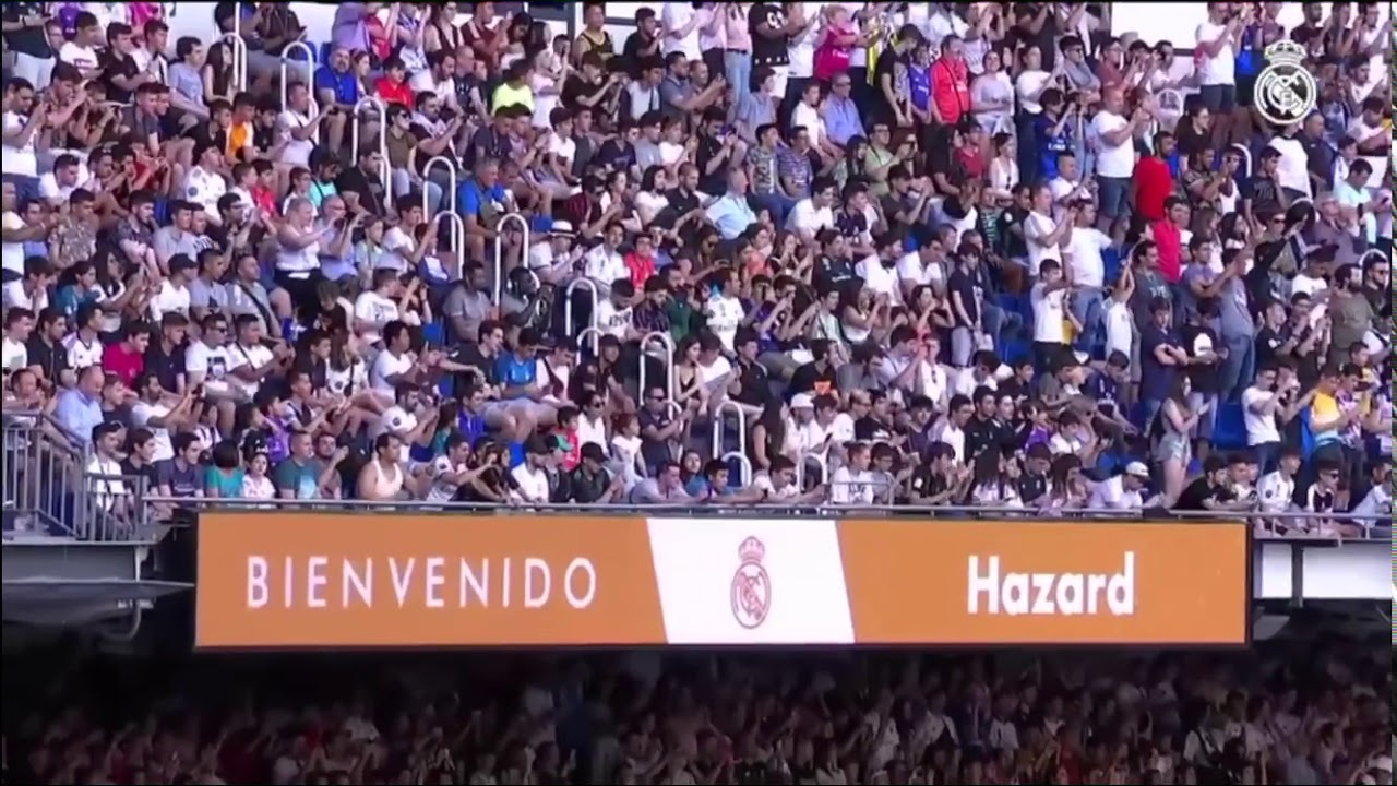 Eden Hazard was officially unveiled as a Real Madrid C.F. player