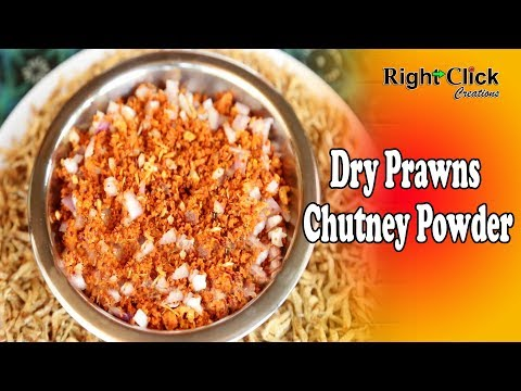 Dry Prawns Chutney Powder - Made Powder using traditional grinding stone.
