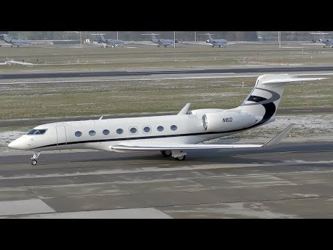 WEF traffic 25JAN19 at Zurich Airport | business-jets, government aircraft & more | 4K