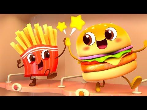 Cool Hamburger Vending Machine | Ice Cream,  Candy Song | Kids Pretend Play | Kids Song | BabyBus