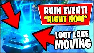 🔴 *NEW* FORTNITE EVENT *RIGHT NOW* - THE RUIN IS MOVING *AGAIN* (Fortnite Season 8 LOOT LAKE EVENT)