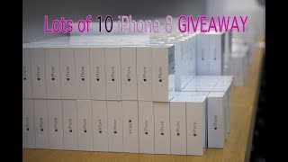 LOTS OF 10 APPLE IPHONE 8 GIVEAWAY