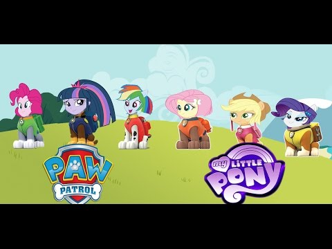 My Little Pony Equestria Girls Transforms Into Paw Patrol - MLP Coloring  Videos For Kids - YouTube
