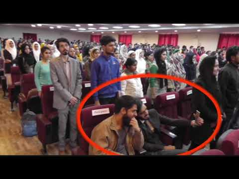 Kashmiri students click selfie instead of standing for National Anthem.