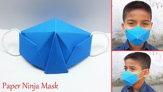 How to Make Paper Ninja Mask DIY Face Mask Easy Origami Mask Easy Paper Crafts