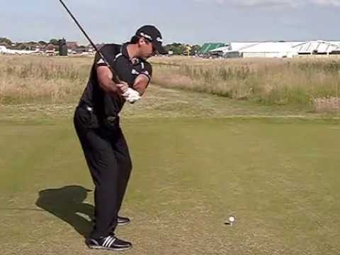 Jason Day Golf Swing Driver Swing Down The Line View July 2014