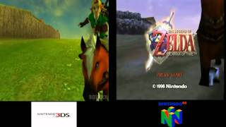 Zelda Ocarina Of Time 3DS N64 Graphics Comparison