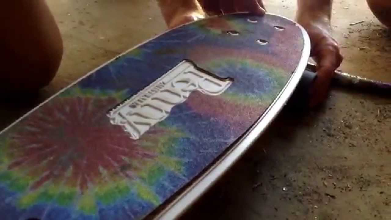 How To Put Griptape on Your Penny/Nickel Board - YouTube
