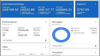 Google adsense earning proof of blog/website Start Today 2020