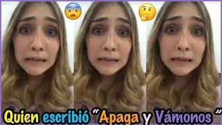 """Olga nos cuenta quien escribió """"APAGA Y VÁMONOS"""" Instagram live 1ra Parte"""