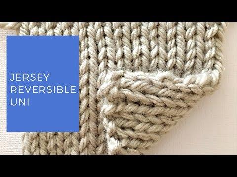 Tricoter Le Jersey Réversible Uni Youtube