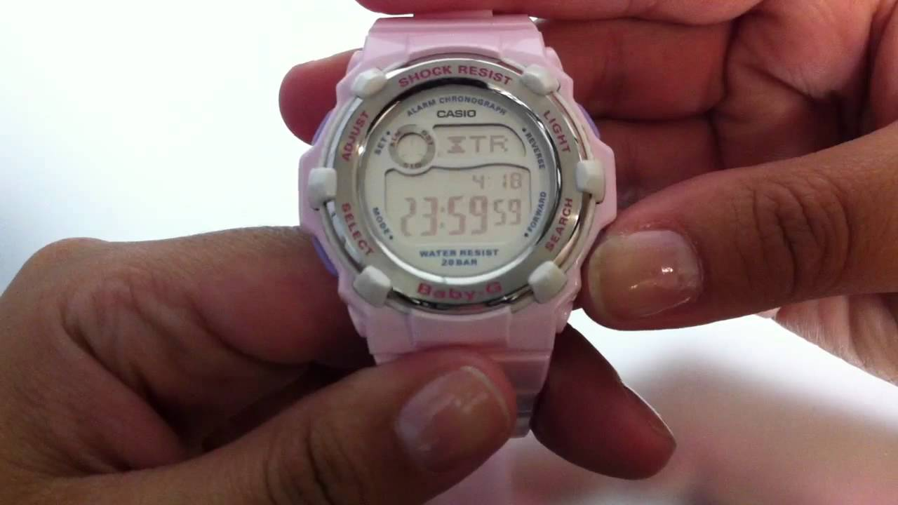 b2060fb0e44c Pink Casio Baby-G World Time Watch BG3000A-4 - YouTube
