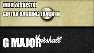 Indie Acoustic Guitar Backing Track In G Major / E Minor (Version 1)