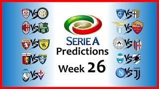 2018-19 SERIE A PREDICTIONS - WEEK 26