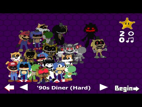 Five Nights At Sonic's Maniac Mania: '90s Diner (Challenge-Hard) |