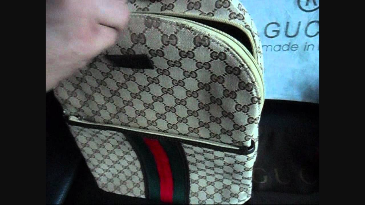 Gucci backpack Authentic bag FULL HD Enjoy my video - YouTube 314a0b52ae887