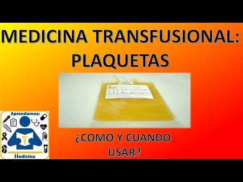 Medicina Tranfusional: Unidades de plaquetas