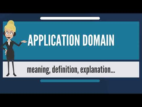 What is APPLICATION DOMAIN? What does APPLICATION DOMAIN mean? APPLICATION DOMAIN meaning