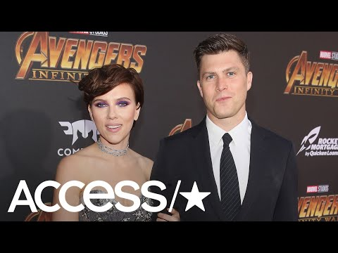 Scarlett Johansson & Colin Jost Make Their Red Carpet Debut At 'Avengers: Infinity War' Premiere
