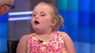'Honey Boo Boo' asleep during interview?