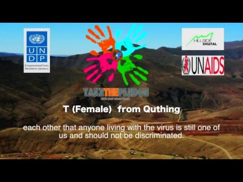 What can you do to help Lesotho achieve zero stigma and discrimination?