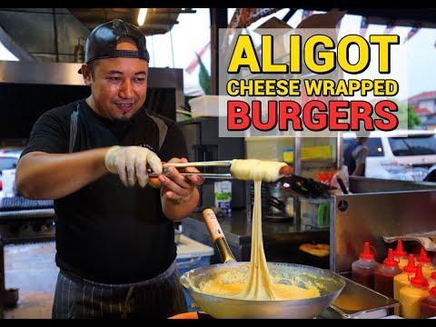 Abang Burn Aligot Cheese Wrapped Burger