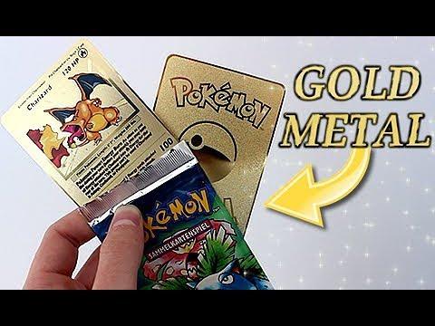 (GOLD METAL) Base Set Charizard Pokemon Card