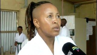 Karateka Noloyiso Bonga ploughs back