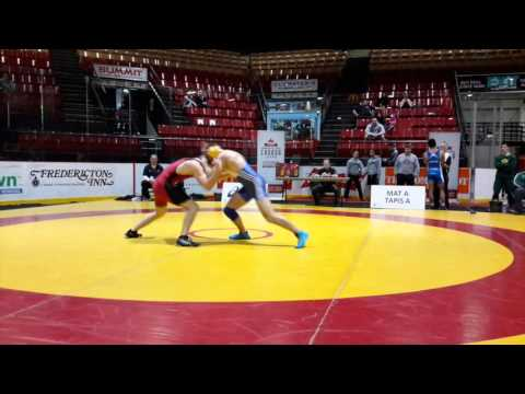 2016 Canadian Junior Championships: 74 kg Benjamin Burgess vs. Matthew Kulak