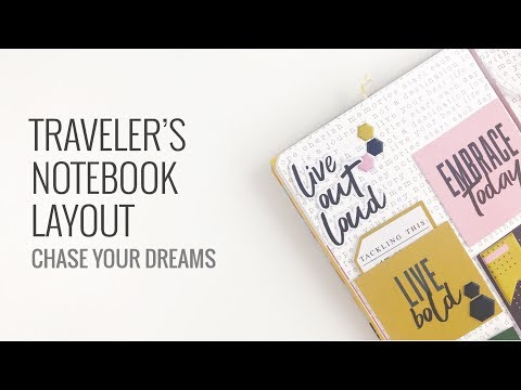 Traveler's Notebook Layout | Feed Your Craft DT Grow Wild Kit