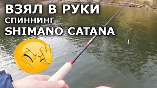 Спиннинг Shimano Catana- это не спиннинг! Проверка! Плетенка для спиннинга. Ловля щуки на спиннинг.
