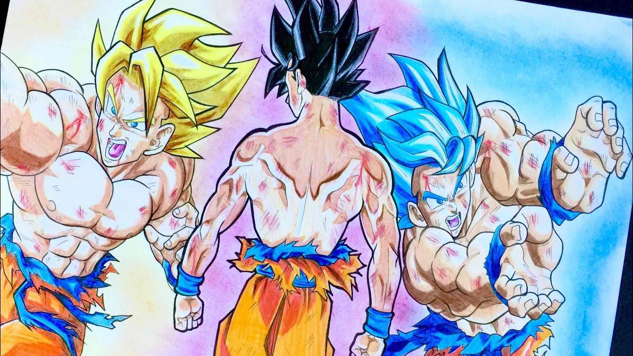 Goku ultra instinct how do i draw youtube - Goku ultra instinct sketch ...