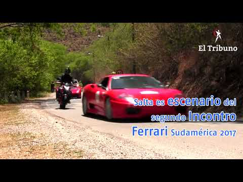 La caravana del Incontro Ferrari Sudamérica llegó a Salta