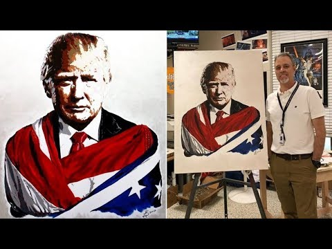 Alabama Teacher's Painting Of Trump Goes Viral After Everyone Noticed One Major Detail In It