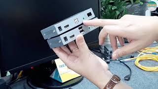 Hướng Dẫn Kết Nối Bộ Kéo Dài HDMI Qua Cáp Quang Có USB l DTECH DT 7059