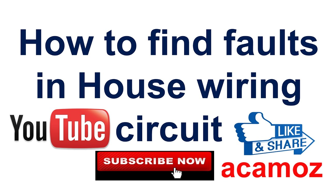 Learning To Find Short Circuit Fault Hindi Urdu How Single Phase House Wiring Diagram Faults In