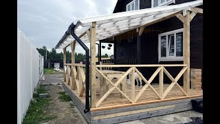 видео Веранда к деревянному дому своими руками
