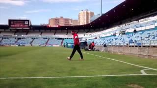 Ortuño, antes del Real Zaragoza-Mallorca