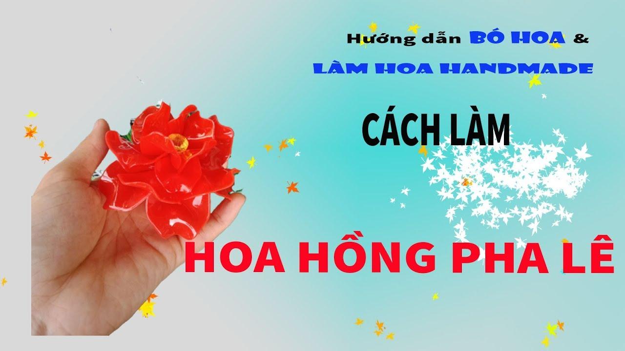 Cách làm hoa hồng pha lê đơn giản | Hướng dẫn làm hoa pha lê | Thanh Vân Flower